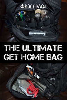 Get home bags are survival kits designed to help you get home safely in an emergency. Here's how to build one on your own from scratch. Urban Survival, Survival Life, Survival Food, Wilderness Survival, Camping Survival, Outdoor Survival, Survival Prepping, Survival Skills, Survival Hacks