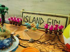 Chocolate covered strawberries and cake pops, Island or beach birthday theme