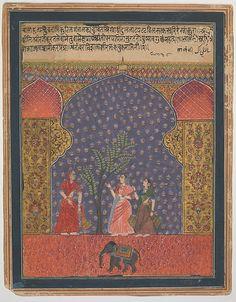 """Solanki Raga"", Folio from a Ragamala, ca. 1590. Islamic. The Metropolitan Museum of Art, New York. Rogers Fund, 1972 (1972.285.1)"