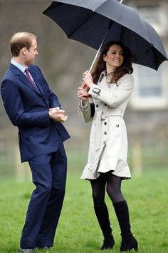 "I imagine Kate is twirling her brolly and singing:    ""I'm singing in the rain, just singing in the rain, what a glorious feeeeeling, I'm hap hap happy again""...."