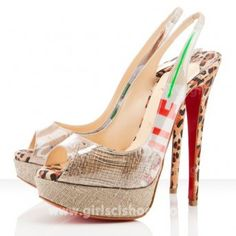 Ecotrash 150mm Christian Louboutin Slingbacks Silver Online Sale