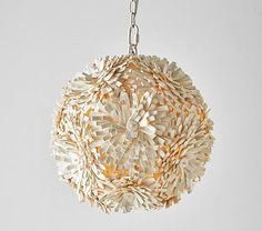 Coco Wood Flower Ball Pendant #pbkids