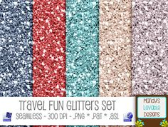 Photoshop Glitter Pattern & Styles Set by Mandy's Lovable Designs | Red Blue Silver | Holiday & American Theme | Travel Fun