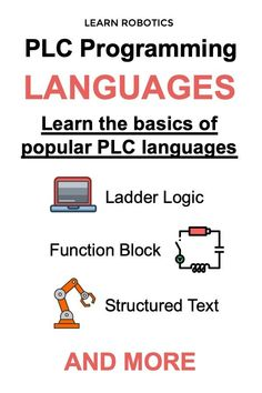Learn the basics of popular PLC languages with this article. Advance your career in Industrial Automation and Robotics. Plc Programming, Programming Languages, Ladder Logic, Learn Robotics, Programing Software, First Language, How To Run Faster, Training Programs, Workplace
