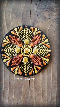Acrylic painted magnet wood magnet hand painted magnet fridge magnets wood art mandala style u Acrylic painted wood magnet,great gift idea,home decor. Sealed with protective sealer,not toxic. Rock Painting Designs, Wood Painting Art, Pebble Painting, Dot Painting, Painting Patterns, Pebble Art, Stone Painting, Wood Art, Art Patterns