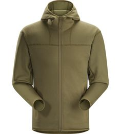 Naga Hoody Full Zip Men's Warm technical mid layer with full zip closure…