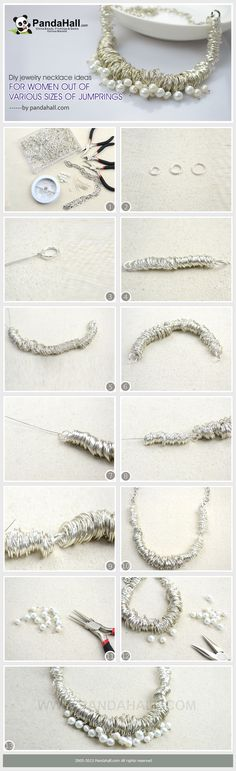The jumprings assembled with wire can be made into a simple chain, or further contribute more intricate pattern in chain-mail diy jewelry. However, in this post I will show you another usage via the necklace ideas for women.