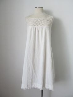 Vintage, Victorian Style, Crocheted Lace Nightgown, Or Dress, With 80's Wearability on Etsy, $30.00