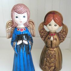 Vintage 1970s Christmas Angels Paper Mache Angel by annegraham, $25.00