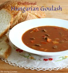 traditional authentic Hungarian goulash recipe soup stew beef gulyas  Has many, many recommendations from readers.  Sure sounds worth a try!