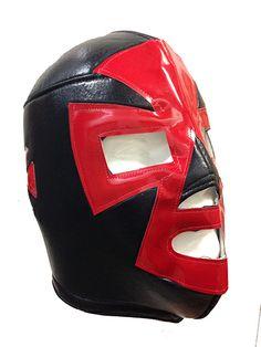 ESPANTO Lucha Libre Wrestling Mask (pro-fit) Black/Red