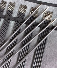 These smooth, seemingly indestructible light carbon-fiber needles have just the right amount of surface grab—not as slick as metal, not as 'sticky' as bamboo—so your stitches stay nicely in place. Knitting Needle Sets, Knitting Needles, Dear Santa, Carbon Fiber, Crafty, Sewing, Teas, Yarns, Sock
