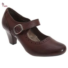 Boulevard - Mary Jane - Femme (41 EU) (Marron) - Chaussures boulevard (*Partner-Link)