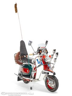 Quadrophenia moped: A Lambretta scooter from the cult film Quadrophenia was spotted rusting and abandoned in a garden in Portsmouth. It's now been restored and is set to sell for at auction. Mod Scooter, Lambretta Scooter, Scooter Girl, Vespa Scooters, Scooter Garage, Motos Vespa, Motor Scooters, Cool Bicycles, Mod Fashion