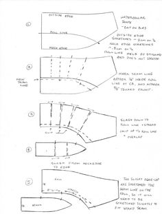 A Tailor Made It: Top collar manipulation As taught by my old friend and tailor Mervyn Kilpatrick. Coat Patterns, Dress Sewing Patterns, Clothing Patterns, Vogue Patterns, Tailoring Techniques, Sewing Techniques, Collar Pattern, Jacket Pattern, Jumpsuit Pattern