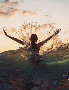 Reminds me of how Sandi loves to play in the surf! Summer Of Love, Summer Fun, Summer Beach, Summer Goals, Ocean Beach, The Ocean, Ocean Girl, Green Ocean, Enjoy Summer