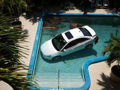 Car careens into hotel swimming pool | News  - Home