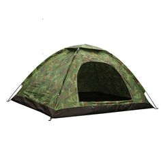 Cheap tents and camping, Buy Quality camping roof top tent directly from China camping tent repair Suppliers: Outdoor Portable Single Layer Camping Tent Camouflage Person Waterproof lightweight Beach fishing hunting Tente tentda 4 Person Camping Tent, 3 Person Tent, Best Tents For Camping, Cool Tents, Camping And Hiking, Tent Camping, Outdoor Camping, Outdoor Gear, Camping Cabins