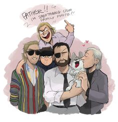 remember how i said domestic mgs AUs and full house are basically the same thingi dont know what im more ashamed of here. the fact that i thought this would be a good idea or the fact that i genuinely stayed up until 3am drawing this(ref photo(yes i did replace the baby with a dog)) - credit to fishbowltwo.tumblr.com