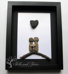Motivational Pebble Art  COUPLE'S Christmas Gift  by SticksnStone
