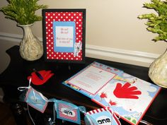 Dr. Seuss 1st birthday party.  Great party memorabilia idea. http://media-cache8.pinterest.com/upload/58898707596213016_oYd1YB6G_f.jpg catebarron party ideas