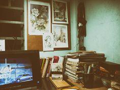 Desk, Watercolor, Frame, Home Decor, Homemade Home Decor, Desktop, Watercolor Painting, Writing Desk, A Frame