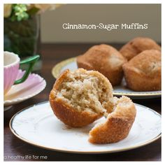 Cinnamon Sugar Muffins Recipe at www.ahealthylifeforme.com