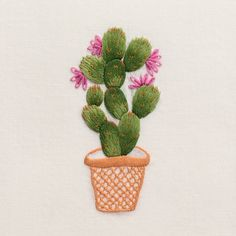 Prickly Pear<br>Hand Towel - Ivory Cotton