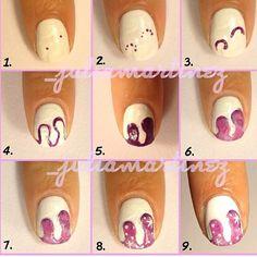 @_juliamartinez galaxy nail tutorial #tutorial #nails #nailvarnish #prettynails #nailpolish #notd #colourful  #nail #nailart #naildesign #manicure #fashion #fashionnails #brightnails #notmine #nailfashionfix #glitter #glitternails #galaxydrip #galaxy #galaxynails - @nailfashionfix- #webstagram
