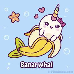 Kawaii Narwhal, Cute Narwhal, Kawaii Chibi, Kawaii Art, Unicorn Illustration, Cute Illustration, Cartoon Gifs, Cute Cartoon Wallpapers, Cartoon Art