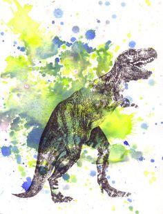 Tyrannosaurus Rex T Rex Dinosaur Art Print From by idillard,