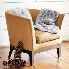 Tulip Leather Chair - modern - armchairs - - by West Elm