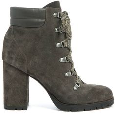 Carolena heeled hiking bootie by Sam Edelman Suede bootie lace-up style Leather ankle accent Sam Edelman Carolena Heeled Hiking Bootie. affiliate