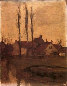 snowce:  Piet Mondrian, Houses with Poplars, 1900