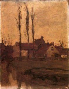 snowce:  Piet Mondrian, Houses with Poplars, 1900