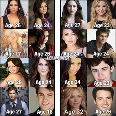 the actual ages of the PLL cast. It would be so much better if they were the actual age of their character
