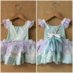 Custom upcycled garden fairy dress  Www.bohobabyboutique.com