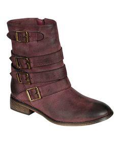 Look at this #zulilyfind! Berry Buckle Clayton 11 Boot by Breckelle's #zulilyfinds