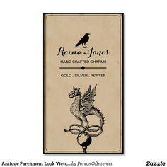 Antique Parchment Look Victorian Business Cards