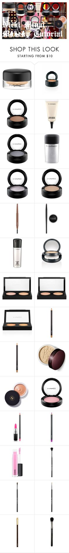 Nicki Minaj Makeup Tutorial by oroartye-1 on Polyvore featuring beauty, Tom Ford, MAC Cosmetics, Chanel, Sigma and Maybelline