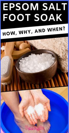 Magnesium and sulfate base salt is known as Epsom salt and is derived from the mineral-rich water. Mostly it is used for cooking Epsom Salt For Feet, Epsom Salt Foot Soak, Epsom Salt For Hair, Foot Soak Vinegar, Salt Hair, Dry Feet Remedies, Natural Remedies, Health Remedies, Diy Foot Soak
