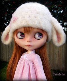 Custom Lamb Sheep Felted Animal Hat for Blythe Dolls by Tutubella | eBay