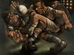 The Glorious Game - Peter Howson 1997 Figure Painting, Figure Drawing, Peter Howson, Beryl Cook, Art Uk, Your Paintings, Game Art, Sculpture, Statue