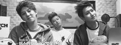 (GIF) Kyung, U-Kwon, and B-Bomb from Block B