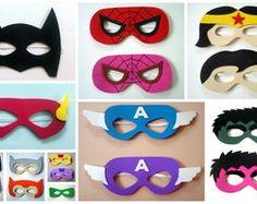 Máscaras de Super Heróis em EVA