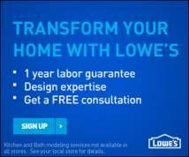 Lowe's Display ad