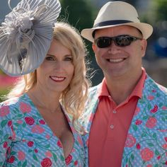 Matching Kentucky Derby couples outfits? Yes please! Kentucky Derby Fashion, Couple Outfits, Panama Hat, Cowboy Hats, Photo And Video, Couples, Instagram, Couple, Panama