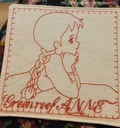 네이버 이미지검색 | NCC 올리비아 (자수미싱) - 빨간머리앤 티매트 만들기