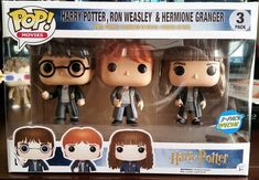 Funko Pop! - Harry Potter, Ron Weasley, & Hermione Granger 3-Pack (Barnes & Nobles Exclusive) - Harry Potter