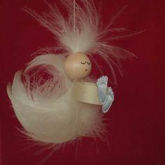 Geburt Federengel #geburt #junge #geschenk #engel #feder #handarbeit